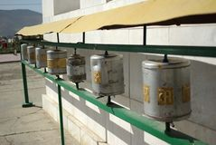 Prayer wheels, Mongolia Royalty Free Stock Photo