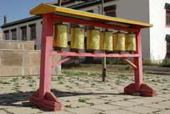Prayer wheels, Mongolia Royalty Free Stock Image