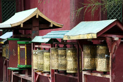 Prayer wheels - Mongolia Stock Photos