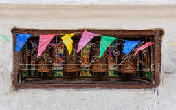Prayer wheels in Nepal Royalty Free Stock Photography