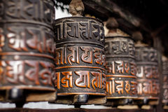 Prayer wheels in Nepal Royalty Free Stock Photo
