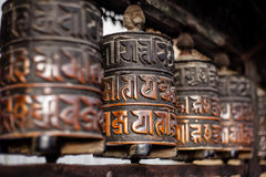 Prayer wheels in Nepal Royalty Free Stock Image