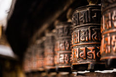 Prayer wheels in Nepal Stock Images