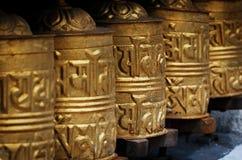 Prayer wheels in  Nepal Royalty Free Stock Photos