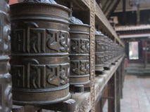 Prayer Wheels in Patan Royalty Free Stock Photography