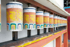 Prayer wheels at the Phodong Monastery, Gangtok, Sikkim, India Royalty Free Stock Images