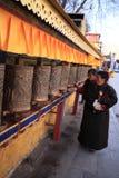Prayer wheels of Potala Palace Royalty Free Stock Images