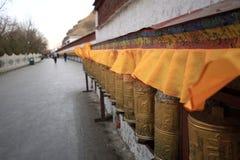 Prayer wheels of Potala Palace Royalty Free Stock Photo