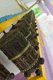 Prayer wheels in a row Stock Images