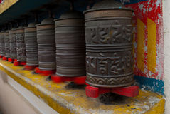 Prayer wheels Royalty Free Stock Photo