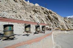 Prayer wheels in Shey Palace, Leh, Ladakh Royalty Free Stock Photos