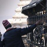 Prayer Wheels at Swayambhu, Kathmandu, Nepal Royalty Free Stock Image