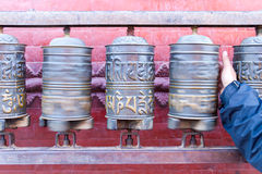 Prayer Wheels at Swayambhunath Stupa Royalty Free Stock Image