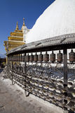 Prayer Wheels, Swayambunath, Kathmandu, Nepal Royalty Free Stock Image