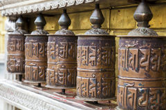 Prayer Wheels, Swayambunath, Kathmandu, Nepal Royalty Free Stock Photos