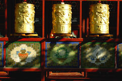 Prayer Wheels in Tibet Royalty Free Stock Images