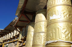 Prayer Wheels in Tibet Stock Photos