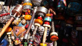 Prayer wheels in Tibet Royalty Free Stock Photography