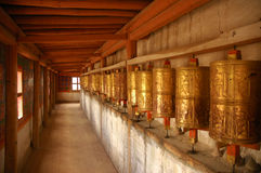 Prayer Wheels. Tibet Royalty Free Stock Photography