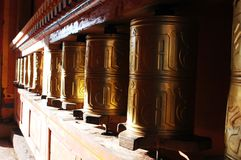Prayer wheels in Tibet Royalty Free Stock Photos