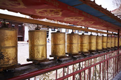 Prayer wheels, Tibet Royalty Free Stock Image