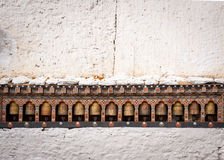 Prayer wheels in Trongsa Dzong, Bhutan Royalty Free Stock Photo