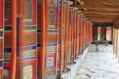 Prayer whell. Labrang Tibetan Buddhist Monastery in Xiahe Royalty Free Stock Photos