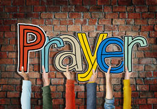 Prayer Word Concepts Isolated on Background Stock Photography