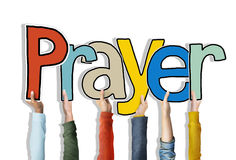 Prayer Word Concepts Isolated on Background Royalty Free Stock Photo