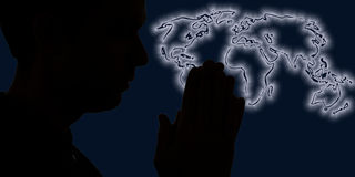 Prayer for the world Stock Image