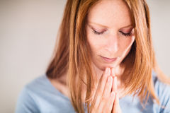 Prayer and Worship Stock Image