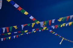 Prayerflags. With blue sky background Stock Photography