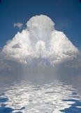 Prayerful Figure in cloud Stock Photos