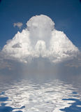 Prayerful Figure in cloud Royalty Free Illustration