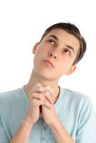 Prayerful gedachten en hoop Royalty-vrije Stock Fotografie