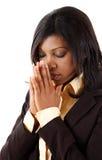 prayerful kvinna Royaltyfria Bilder