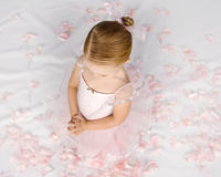 Prayerful Little Ballerina Royalty Free Stock Photography