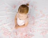 Prayerful Little Ballerina Royalty Free Stock Photography
