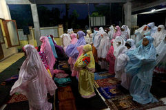 Prayers at the mosque Stock Image