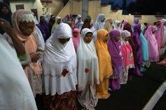 Prayers at the mosque Stock Photos