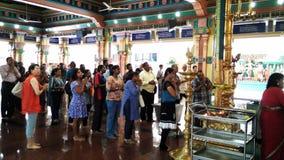 Prayers pray in hindu temple Royalty Free Stock Photo