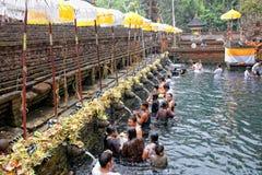 Prayers at Puru Tirtha Empul temple Stock Photo