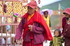 Prayers in the Sertar buddhish college Royalty Free Stock Photography