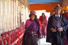 Prayers in the Sertar buddhish college Royalty Free Stock Photo