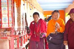 Prayers in the Sertar buddhish college Stock Photos