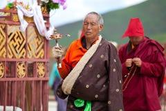 Prayers in the Sertar buddhish college Stock Image