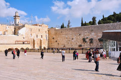 Jerusalem wailing wall Stock Photography
