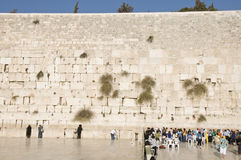 Prayers and tourists near Jerusalem wall Royalty Free Stock Photos