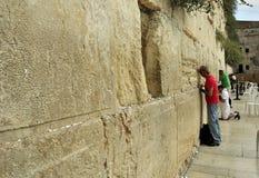 Prayers at the wailing wall Royalty Free Stock Photo