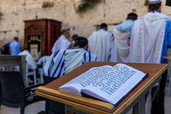 Prayers at the Western Wall, Jerusalem Royalty Free Stock Photography